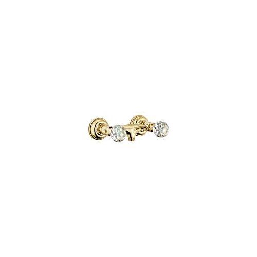 Kludi Adlon Brausearmatur mit Kristallgriffe  für Wandmontage vergoldet 23 kt 5161045G4