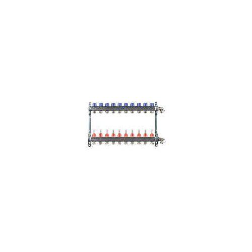Megabad Profi Collection Fußbodenheizung-Heizkreisverteiler für 10 Heizkreise Fußbodenheizung B: 60 H: 36 cm für 10 Heizkreise MBHKV10