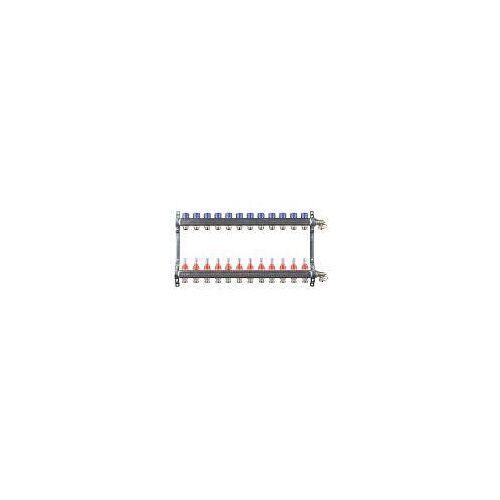 Megabad Profi Collection Fußbodenheizung-Heizkreisverteiler für 12 Heizkreise Fußbodenheizung B: 70 H: 36 cm für 12 Heizkreise MBHKV12