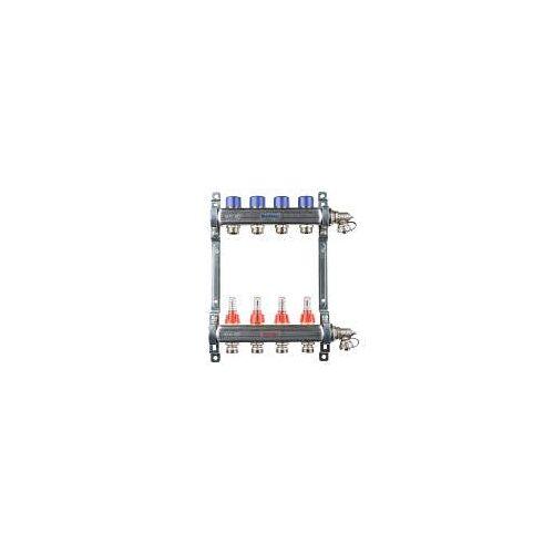 Megabad Profi Collection Fußbodenheizung-Heizkreisverteiler für 4 Heizkreise Fußbodenheizung B: 30 H: 36 cm für 4 Heizkreise MBHKV4