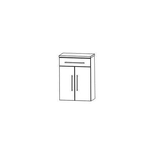 Puris Crescendo Highboard 60 x 30 x 82,8 cm mit 1 Schubkasten und 2 Türen Crescendo B: 60 T: 30 H: 82,8 cm eiche hell nachbildung