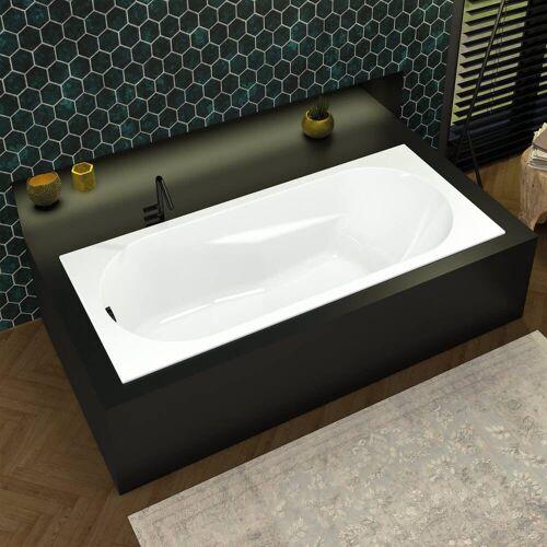 Riho Lazy Rechteck-Badewanne 180 x 80 cm Lazy L: 180 B: 80 cm weiß BC41005