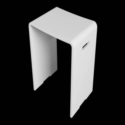 Riho Solid Surface Badezimmer-Sitz Solid Surface 40 x 30 x 43 cm weiß matt AS03005