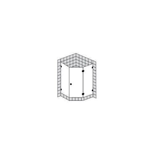 Sprinz BS-Dusche Fünfeckdusche mit Tür bis 100 x 100 x 200 cm BS-Dusche B: 100 T: 100 H: 200 cm chrom BS51.0-CH