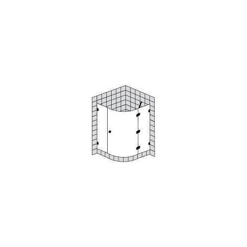 Sprinz BS-Dusche Runddusche mit 1 Tür bis 100 x 100 x 200 cm BS-Dusche B: 100 T: 100 H: 200 R: 50 cm chrom BS15.2-CH