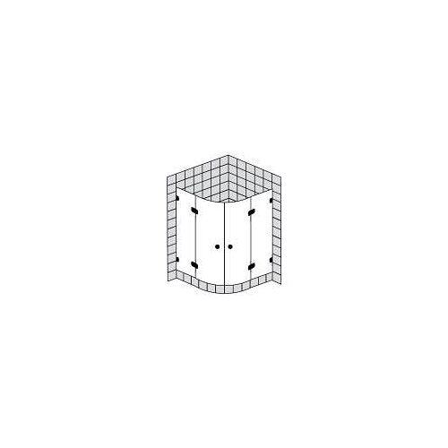 Sprinz BS-Dusche Runddusche mit 2 Türen bis 100 x 100 x 200 cm BS-Dusche B: 100 T: 100 H: 200 R: 52-53 cm chrom BS26.2-CH