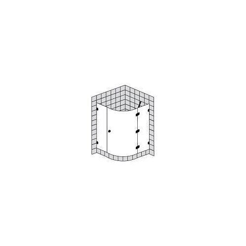 Sprinz BS-Dusche Runddusche mit 1 Tür bis 100 x 100 x 200 cm BS-Dusche B: 100 T: 100 H: 200 R: 55 cm chrom BS17.2-CH