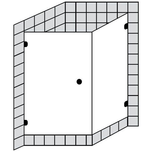Sprinz BS-Dusche Tür mit Seitenwand bis 100 x 100 x 200 cm BS-Dusche B: 100 T: 100 H: 200 cm chrom BS13.0-CH