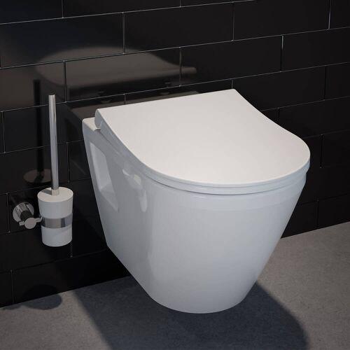 VitrA Integra Wand-WC Flachspüler mit Spülrand, mit Bidetfunktion Integra B: 35,5 T: 54 cm weiß 7064L003-0850