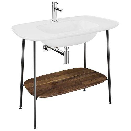 VitrA  Plural Badmöbel Set Waschtischunterbau und Möbelwaschtisch Plural B: 99,5 T: 55 H: 83,5 cm weiß hochglanz 64044