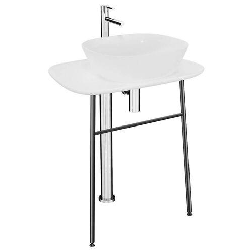 VitrA Plural Waschtischunterbau hoch freistehend Plural B: 68,5 T: 49 H: 74 cm weiß hochglanz 64054