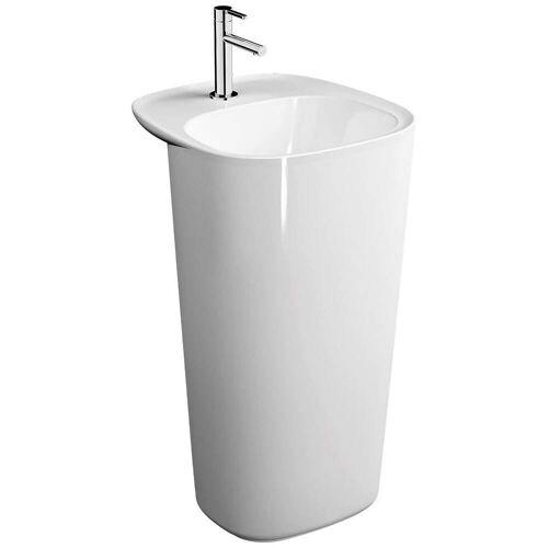 VitrA Plural Monoblock Waschtisch bodenstehend mit Überlaufloch Plural B: 48,5 T: 52,5 H: 85 cm weiß hochglanz 7814B403-0001