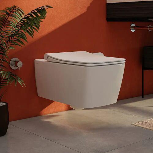 VitrA Aquacare Metropole WC-Set mit Bidetfunktion, spülrandlos, inkl. Sitz Aquacare B: 36 T: 56 cm weiß 7672B003-6203