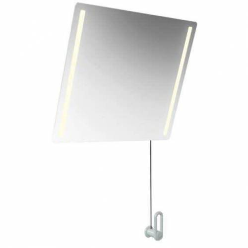 HEWI LED Kippspiegel basic  B: 60 H: 54 T: 0,6 cm sand 801.01.400 86