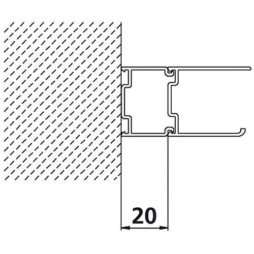 Kermi Nova 2000  Stockverbreiterung für Gleittür zur Verbreiterung des Rahmenprofiles um 2 cm weiß  ZDSVSVEN21852K
