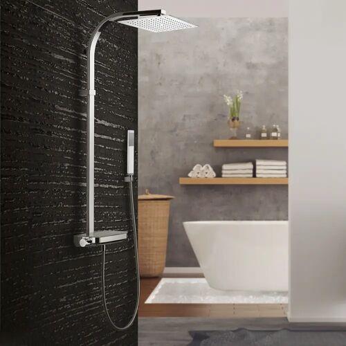 Kronenbach Duschsystem mit Thermostat und Glasablage Duschsysteme  chrom 27282000KB