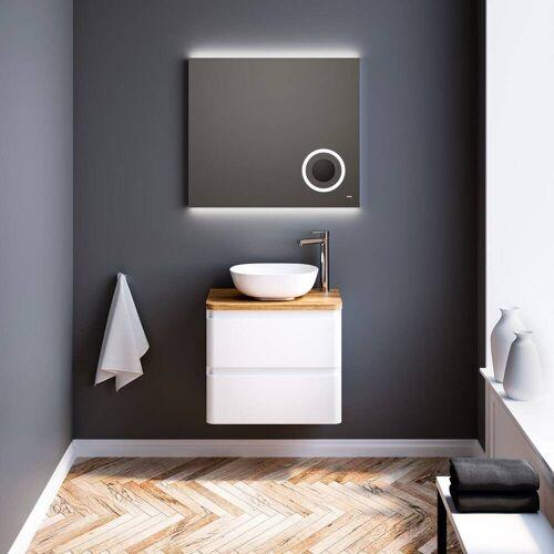 Treos Serie 925 Waschtisch mit Unterschrank 60 cm inkl. Konsolenplatte 925 B: 60 T: 42 H: 65,4 cm weiß hochglanz 925.05.06013