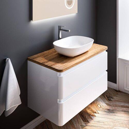 Treos Serie 925 Waschtisch mit Unterschrank 90 cm, inkl. Konsolenplatte 925 B: 90 T: 48 H: 65,5 cm weiß hochglanz 925.05.09013