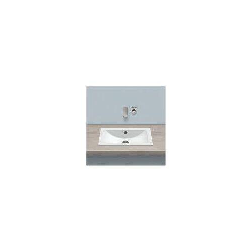 Alape Einbaubecken EB.R585, rechteckig 58,5 x 34,7 cm Einbaubecken B: 58,5 T: 34,7 H: 13,5 cm weiß 2201000000