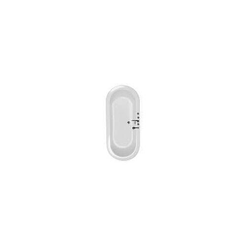 Caribia Ovalnova Oval-Badewanne 180 x 80 cm Ovalnova L: 180 B: 80 H: 45 cm weiß Ovalnova inkl. Fußgestell