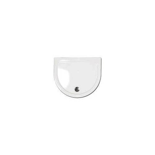 Caribia Halbkreis Dusche Agadon 95 x 80 cm Agadon 95 x 80 x 3 cm weiß Halbkreis Dusche Agadon inkl. Fussgestell