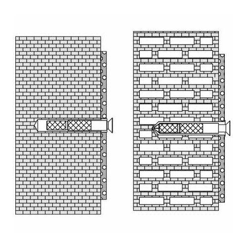 HEWI Befestigungsmaterial BM18.2 Befestigungen zur Befestigung an Wänden aus Vollziegel, Hohlblockstein, etc.  BM18.2