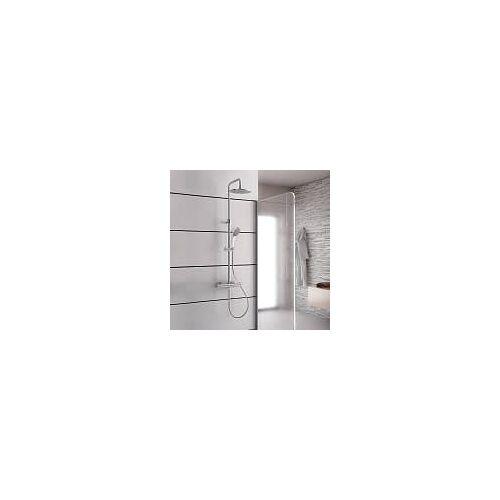 Kronenbach Duschsystem 2.0 rund mit Thermostat und Kopfbrause 22,5 cm Duschsysteme 2.0 H: 78,5 - 126,5 cm chrom 27129000KBN