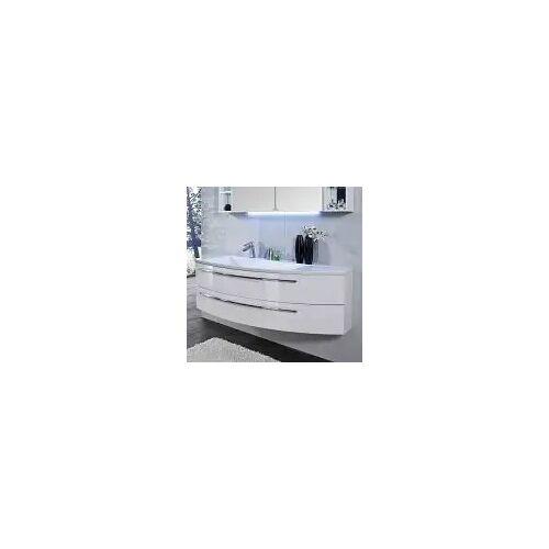 Puris Crescendo Waschtischunterschrank 140 x 47 x 48 cm, für Waschtisch mit Ablage rechts Crescendo B: 140 T: 47 H: 48 cm polarweiß hochglanz