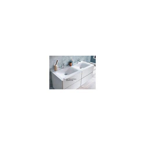Puris Ice Line Stoneplus Doppelwaschtisch 122 cm Ice Line B: 122 T: 50 H: 1,5 cm weiß WMS712061