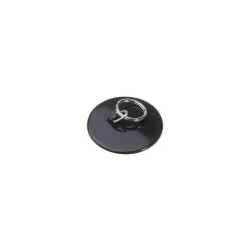 HAAS Kunststoff-Spülenstopfen Ø 45,5 mm mit großem Handring Kunststoff, mit gr. Handring schwarz  6152