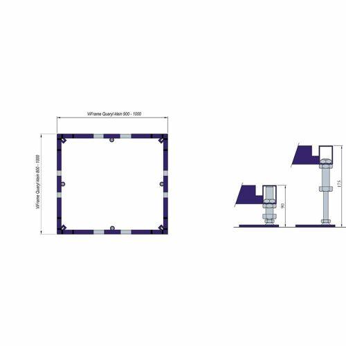 Villeroy & Boch ViFrame für kleinere Duschwannen aus Quaryl bis 100 x 100 cm für Quaryl-Duschwannen bis 100 x 100 cm   U91412300