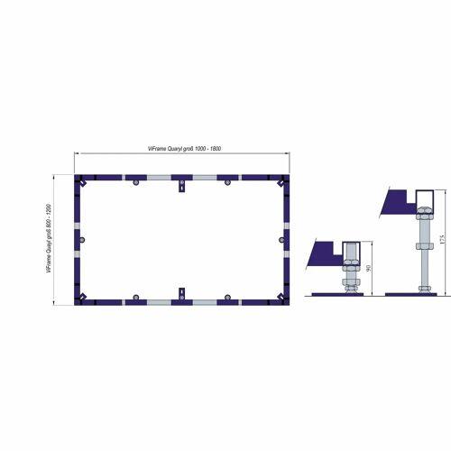 Villeroy & Boch ViFrame für größere Duschwannen aus Quaryl ab 100 x 100 cm für Quaryl-Duschwannen ab 100 x 100 cm   U91412400
