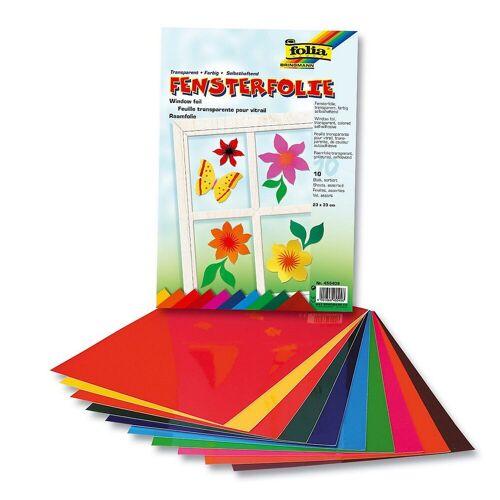 Folia Fenstersticker »Fensterfolien, 10 Bogen, farbig sortiert«,