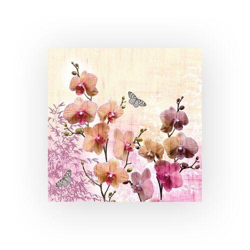 Ambiente Papierserviette »Orchideen«, (20 St), 33 cm x 33 cm