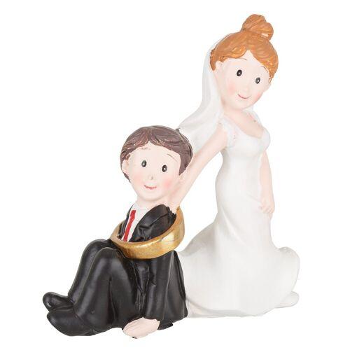 HobbyFun Dekofigur »Hochzeitspaar«, 7,5 x 8 cm