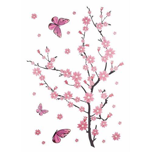 ART Wall-Art Wandtattoo »Kirschblüten mit Schmetterlingen«