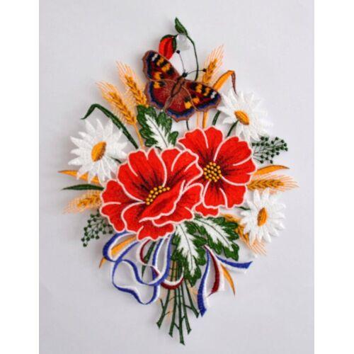 Stickereien Plauen Fensterbild »Herbstblumenstrauß«