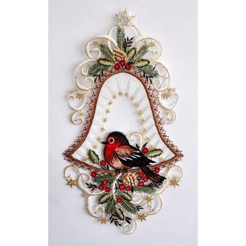 Stickereien Plauen Fensterbild »Vogel in Glocke«