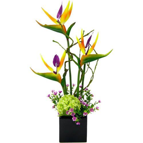 I.GE.A. Kunstpflanze Strelitzie/Sonnenblumen, , Höhe 45 cm