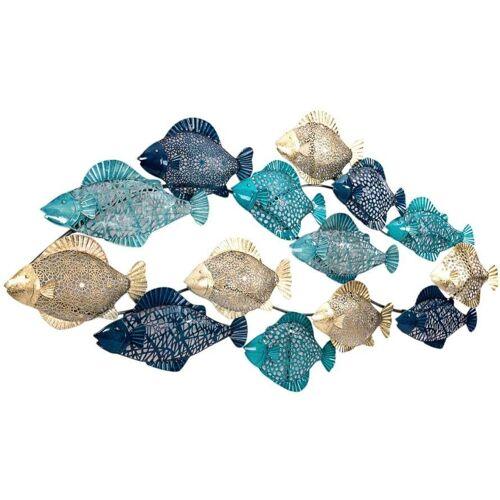 Schneider Wanddekoobjekt »Wanddeko Fishes«, Wanddeko, aus Metall, maritim