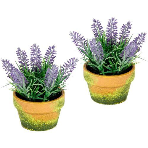 I.GE.A. Kunstblume Lavendel, , Höhe 18 cm, im Topf