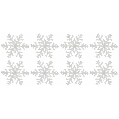 Dekostern »Eiskristall«, 8 Stück, Fensterdekoration