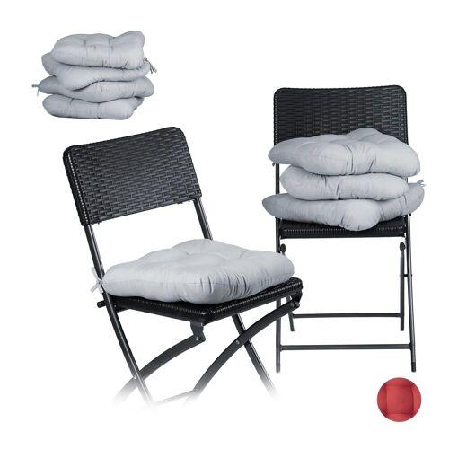 relaxdays Stuhlkissen »8 x Stuhlkissen grau«