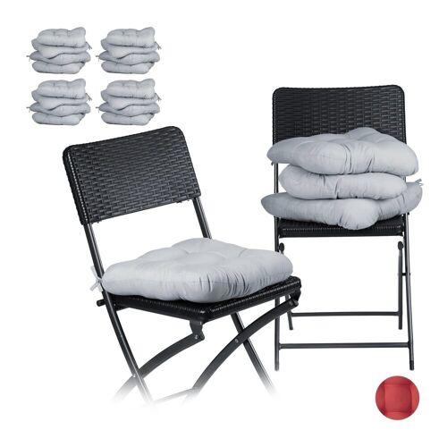 relaxdays Stuhlkissen »20 x Stuhlkissen grau«
