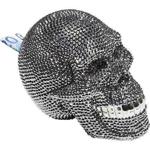 KARE Spardose »Spardose Skull Crystal Silber«