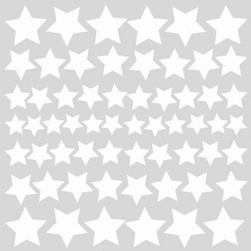 RoomMates Wandsticker »Wandsticker Glow in the Dark Stars, 60-tlg.«