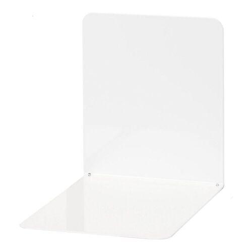 WEDO Buchstütze »Buchstützen Metall 14 x 12 x 14 cm blau, 2 Stück«, weiß