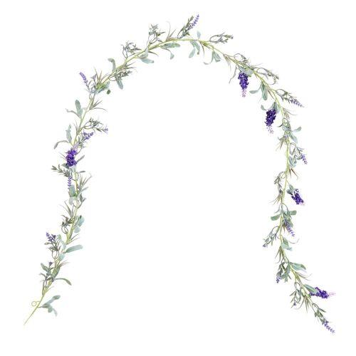 BUTLERS Kunstgirlande »FLORISTA Lavendel Girlande 150cm«,