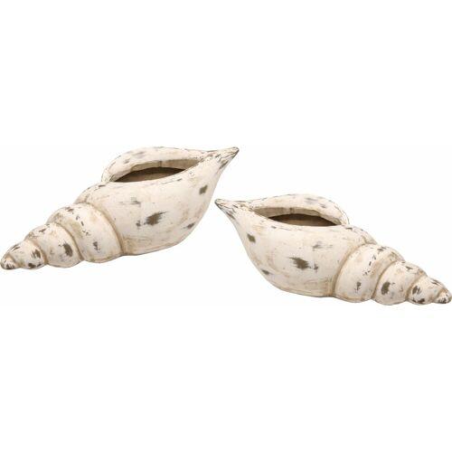 I.GE.A. Dekoschale »Keramik-Schale Muschel« (Set, 2)