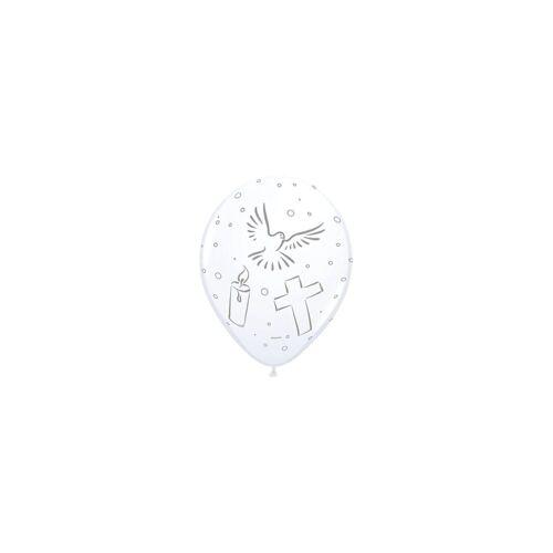 Folat Luftballon »Luftballons christlich Taube-Kerze-Kreuz, 8 Stück«